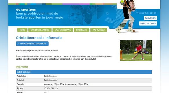 bij sporttoernooien (schoolactiviteiten) kan een foto worden toegevoegd