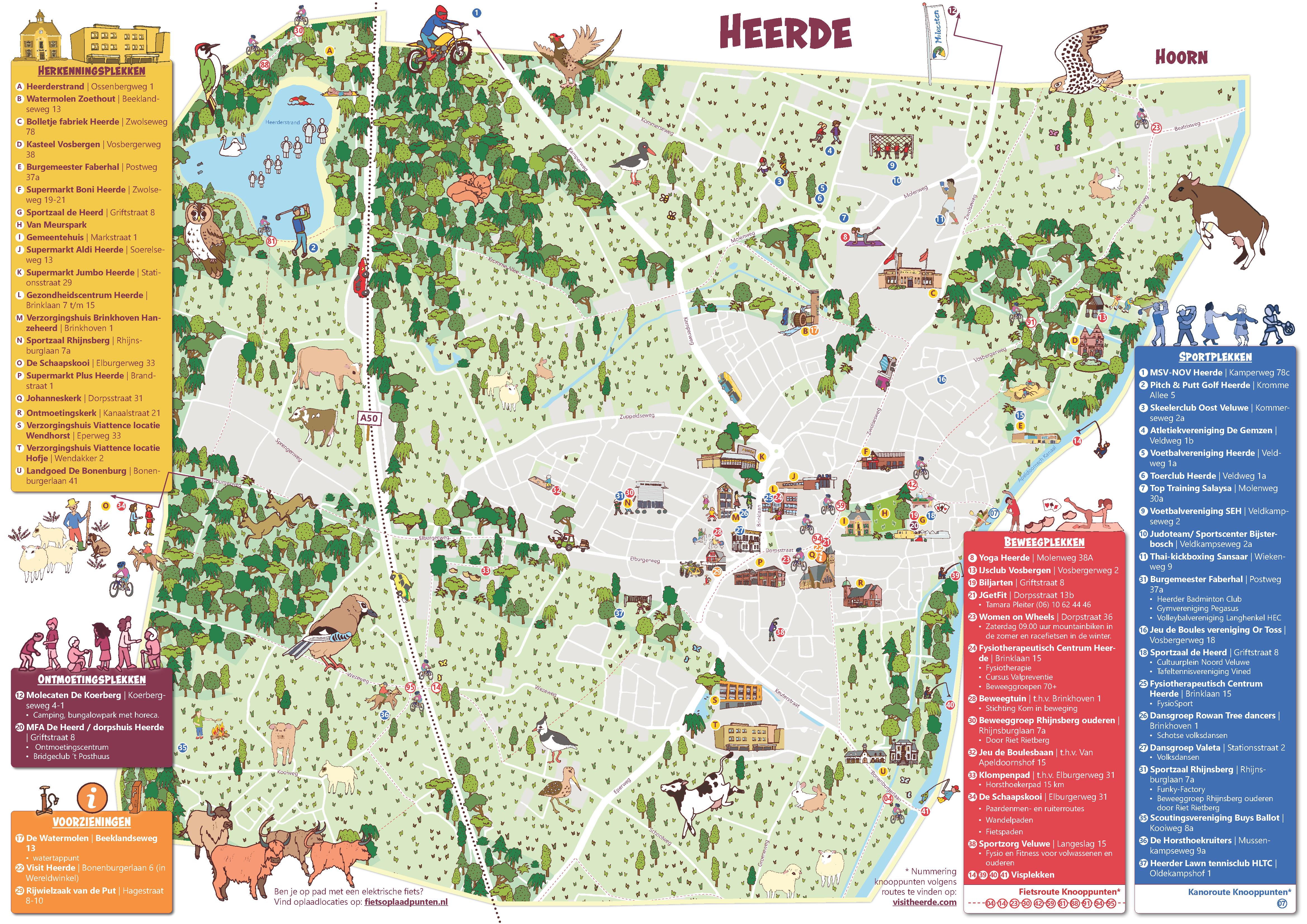 Beweegkaart Heerde en Wapenveld