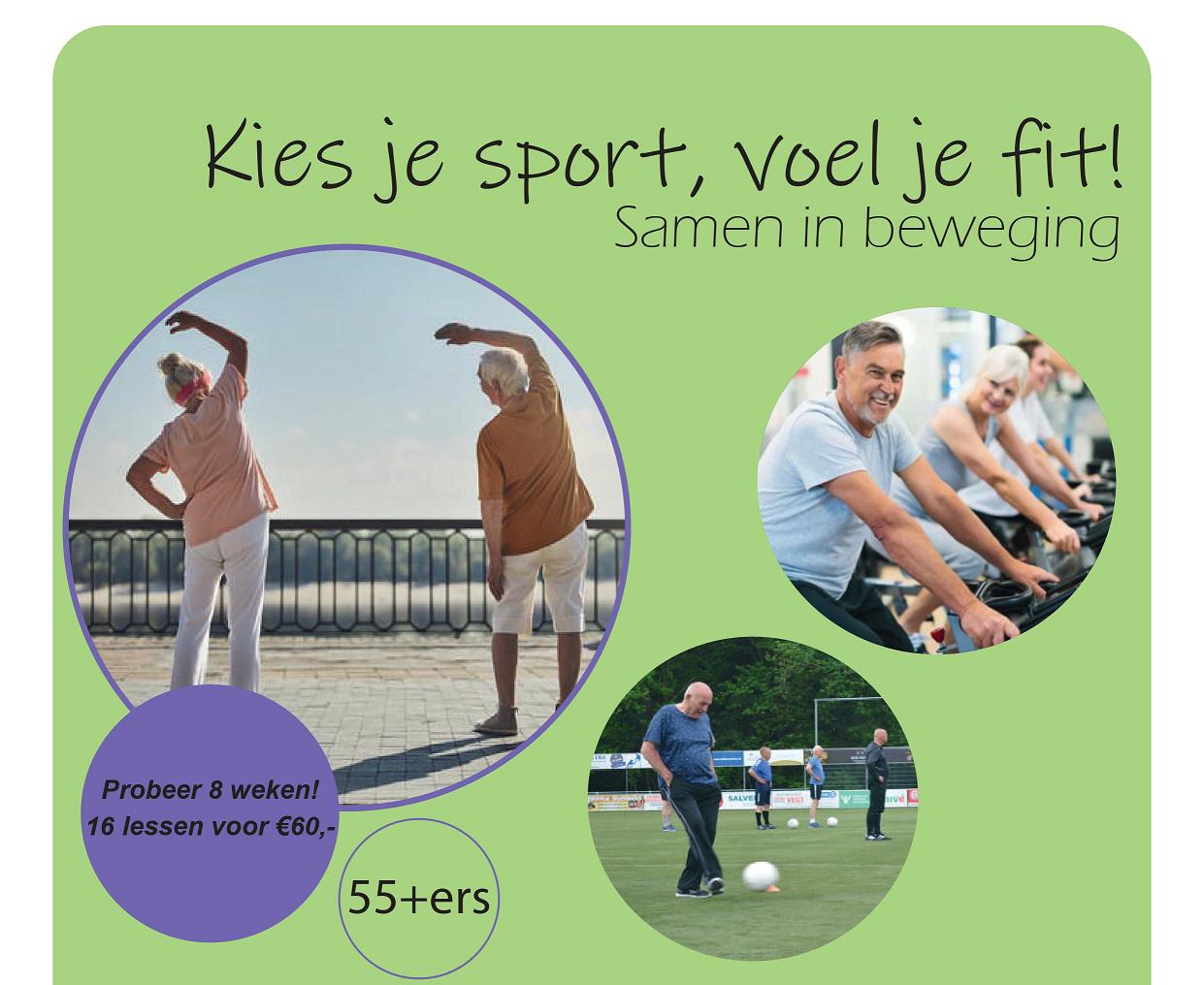 Poster Kies je sport, voel je fit!